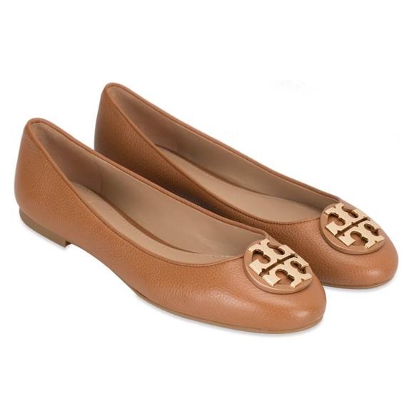 f5581c8c48ed Tory Burch Claire Royal Tan Ballerina Flats Size 9